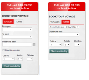 New booking box